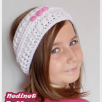 Crochet headband, headwarmer,  Crochet Ear Warmer, Handmade Accessory Womens Crochet Headband Baby-Adult sizes
