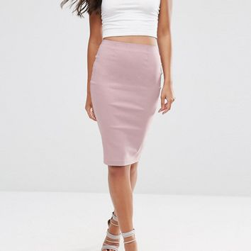 ASOS High Waisted Pencil Skirt at asos.com