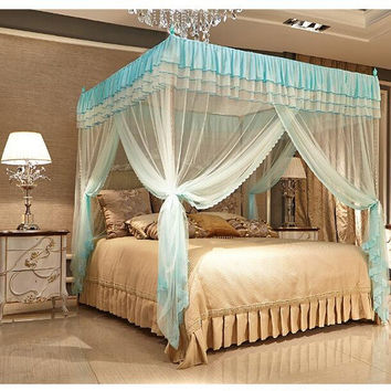 1.5x2m Square Anti Mosquito Net Bedding Curtain Three Open Door