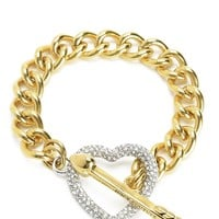 Pave Heart Toggle Bracelet by Juicy Couture