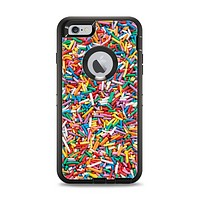 The Colorful Candy Sprinkles Apple iPhone 6 Plus Otterbox Defender Case Skin Set
