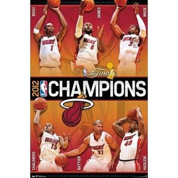 Miami Heat 2012 Nba Champions Poster From Amazon Things