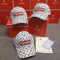Supreme LV Women Men Sport Sunhat Embroidery Baseball Cap Hat