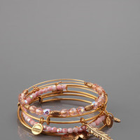 ideeli | ALEX AND ANI Feather Charm Bangle Set