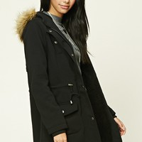 Faux Fur-Trimmed Utility Jacket