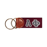 Alpha Phi Needlepoint Key Fob by Smathers & Branson
