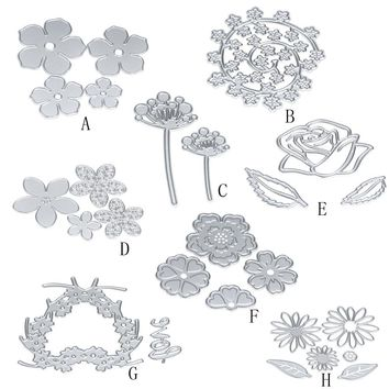 New 8 Style Flowers Elements Metal Cutting Dies Stencils DIY Scrapbooking Album Paper Card Embossing Craft For Big Shot