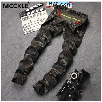 spbest New Mens Camouflage Jeans Motocycle Camo Military Slim Fit Famous Designer Biker Jeans With Zippers Men AY971