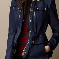 Cotton Sateen Field Jacket