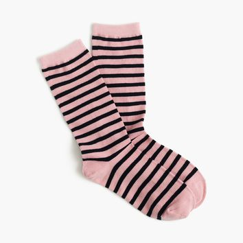 Striped trouser socks : Women socks & tights | J.Crew