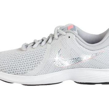 Nike Revolution 4 + Crystals - Grey