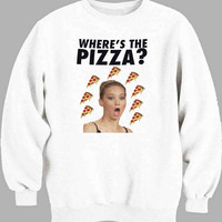 Jennifer Lawrence Where s the Pizza Sweater for Mens Sweater and Womens Sweater *
