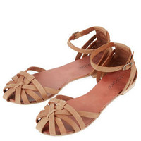 HAPPY Closed Strippy Sandals - Flats  - Shoes