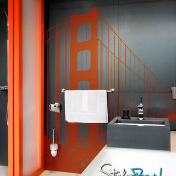Vinyl Wall Decal Sticker Golden Gate Bridge #782