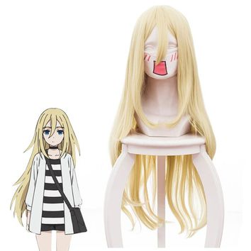 2018 New Arrival Angels of Death Ray Rachel Gardner Cosplay Wig for Women 80cm Long Straight Anime Costume Party Wig Hair Gold