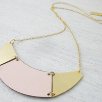 Formica Divided Half Moon Necklace by shlomitofir on Etsy