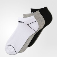 adidas Colorblocked Ped Socks 3 Pairs - White | adidas US