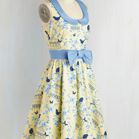 All the World's a Stage Dress in Birdcage | Mod Retro Vintage Dresses | ModCloth.com