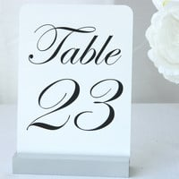 Silver Table Number Holder