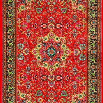 3045 Red Colorful Isfahan Oriental Area Rugs