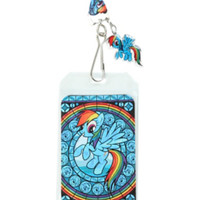 My Little Pony Rainbow Dash Stained Glass Lanyard