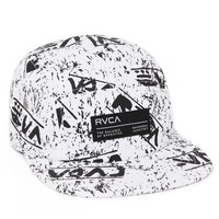 RVCA Glyph 5 Panel Hat - Mens Backpack - White - One