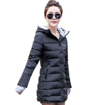 New Wadded Jacket Female Women Winter Jacket Down Cotton Coat Slim Parkas Ladies Plus Size Womens Jackets And Coats