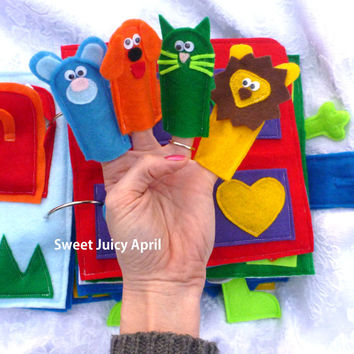 Finger Puppet Quiet Book Page