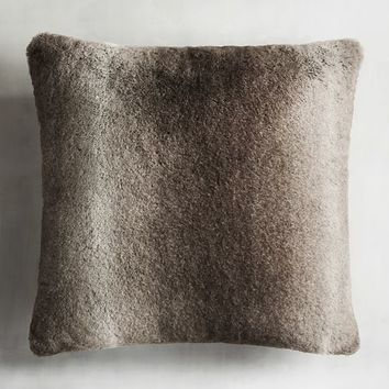 Faux Fur Ombre Mink Pillow