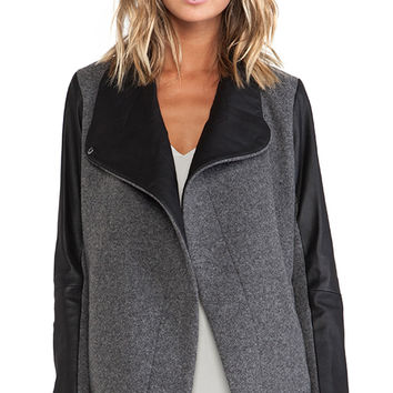 Theory Naomo Jacket in Charcoal