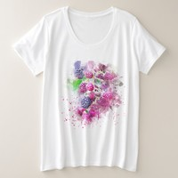 Colorful Fruit Abstract Plus Size T-Shirt