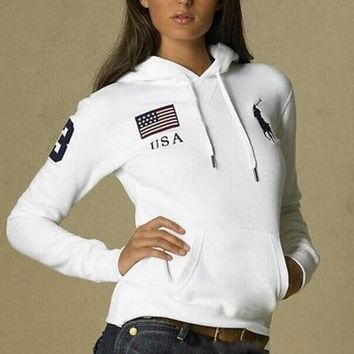 One-nice™ POLO Hooded Hedging long sleeve women pullover sweater