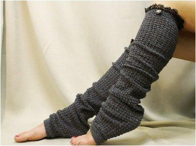 LW23 leg warmers Dancer extra long charcoal grey