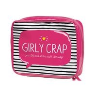 """Girly Crap"" Wash Bag from Happy Jackson"
