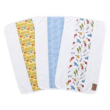 Dr. Seuss One Fish, Two Fish 3 Pack Jumbo Burp Cloth Set