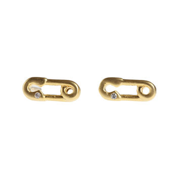 I liked this design on #Fab. Safety Pin Post Earrings