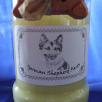German Shepherd Farts Candle in a Recycled Liquor Bottle - 10oz