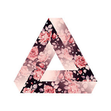 Floral Triangle Decal