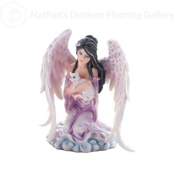 Angel With Cat Figurine