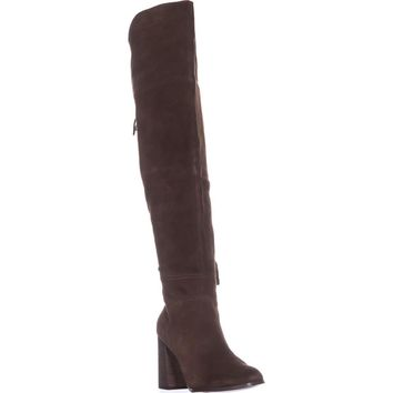 Steve Madden Novela Over-the-Knee Boots, Tan Suede, 10 US
