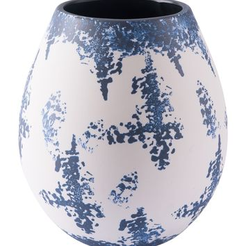 Nube Md Vase Blue & White