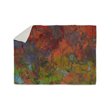 "Jeff Ferst ""Fall Colours"" Red Painting Sherpa Blanket"