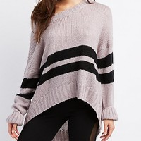 Varsity Stripe Oversized Sweater