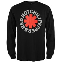 Red Hot Chili Peppers - Mens Asterisk Long Sleeve Small Black
