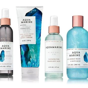 4 SET Bath & Body Works AQUAMARINE Collection