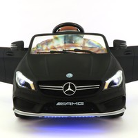 Mercedes CLA45 12V Kids Ride-On Car with R/C Parental Remote | Matt Black