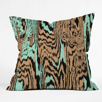 Caleb Troy Aqua Chocolate Safari Throw Pillow