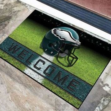 Philadelphia Eagles Door Mat 18x30 Welcome Crumb Rubber