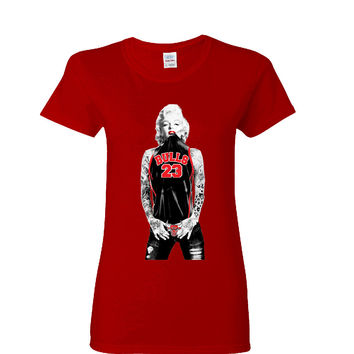 Marilyn Monroe Bulls Ladies T-shirt Sports Clothing