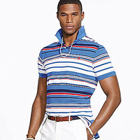 Polo Ralph Lauren Classic-Fit Multi-Striped Mesh Polo Shirt - Barclay